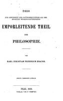 Der zur Gewissheit der Gotteserkenntniss als des h  chsten Wissenschaftprinzipes emporleitende Theil der Philosophie PDF
