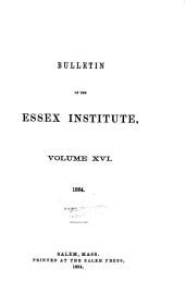 Bulletin: Volumes 16-19