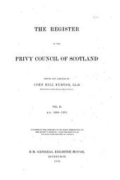 The Register of the Privy Council of Scotland, 1545-[1689]: v. 1-8. 1625-1660