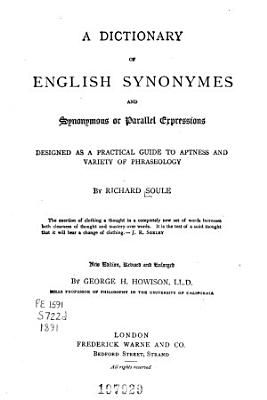 A dictionary of English synonymes and synonymous or parallel expressions PDF