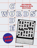 Large Print Code Words Book