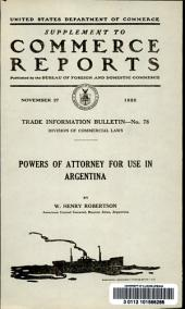 Powers of attorney for use in Argentina