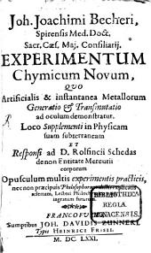 Experimentum Chymicum novum