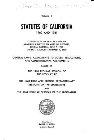Statutes of California PDF