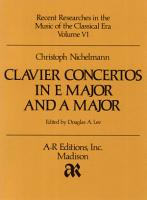 Clavier Concertos in E Major and A Major PDF
