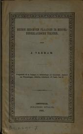 Eenige bedorven plaatsen in Middelnederlandsche teksten: Volume 1