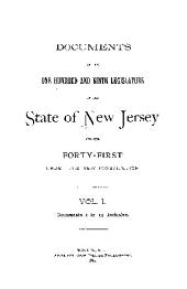 Documents of the Legislature of the State of New Jersey: Volume 109, Part 1