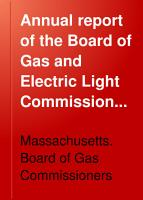 Annual Report of the Board of Gas and Electric Light Commissioners of the Commonwealth of Massachusetts PDF