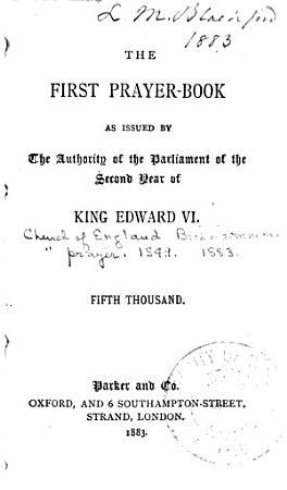 The First Prayer book PDF