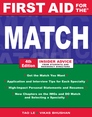 First Aid for the Match  Fourth Edition PDF