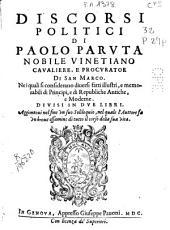 Discorsi politici di Paolo Paruta ...