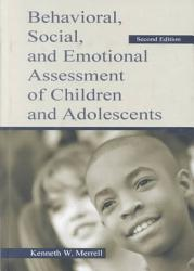Behavioral Social And Emotional Assessment Of Children And Adolescents Book PDF