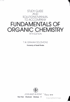 Fundamentals of Organic Chemistry  Textbook  Study Guide and Solutions Manual PDF