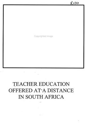 Teacher Education Offered at a Distance in South Africa PDF