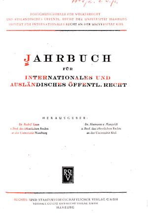 Jahrbuch f  r internationales und ausl  ndisches   ffentliches Recht PDF