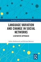 Language variation and change in social networks PDF