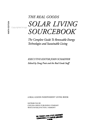 A Real Goods Solar Living Sourcebook PDF