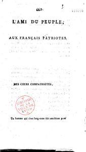 L' Ami du Peuple aux Français patriotes