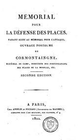 Oeuvres posthumes: mémorial pour la fortification permanente et passagère : mémorial pour l'attaque des places, Volume3