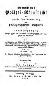 Preussisches Polizei-Strafrecht, etc