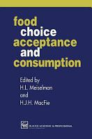 Food Choice  Acceptance and Consumption PDF