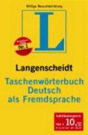 Langenscheidt Taschenw  rterbuch Deutsch als Fremdsprache PDF