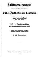 Halbjahrsverzeichnis der im Deutschen Buchhandel erschienenen B  cher  Zeitschriften und Landkarten PDF