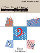I Can Read Music  Book 1  Beginning Reading
