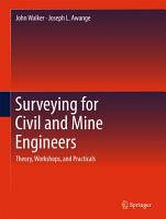 Surveying for Civil and Mine Engineers PDF