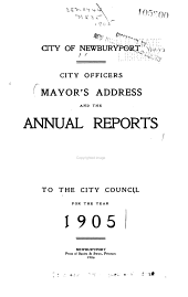 The Mayor's Address ... and the Annual Reports to the City Council ...