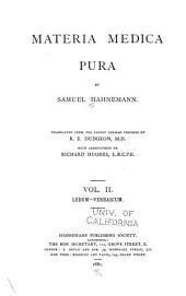 Materia medica pura: Volume 2