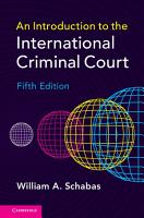 An Introduction to the International Criminal Court PDF