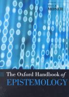 The Oxford Handbook of Epistemology PDF