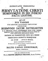 Exercitatio theol. de permutatione Christi hominumque in dei iudicio facta legitime
