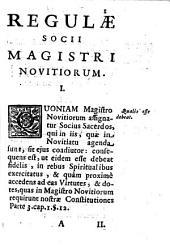 Regulae socii magistri novitiorum