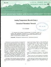 Analog temperature records from a linearized thermistor network