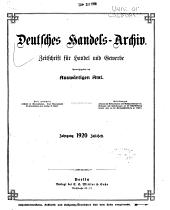Deutsches Handels Archiv PDF