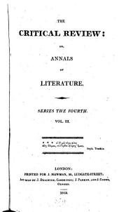 The Critical Review: Or, Annals of Literature: Volume 3