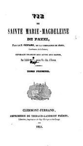 Vie de Sainte Marie Madeleine de Pazzi