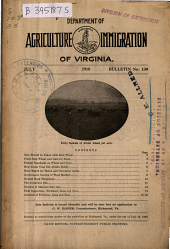 Bulletin - Virginia Department of Agriculture and Immigration: Issue 130