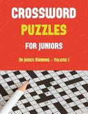 Crossword Puzzles for Juniors (Vol 1)