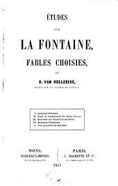 Études sur La Fontaine: fables choisies
