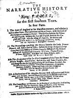The Narrative History of King James, for the First Fourteen Years