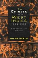 The Chinese in the West Indies  1806 1995 PDF