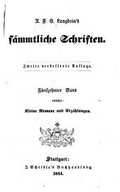 Sämmtliche Schriften: Kleine Romane und Erzählungen, Band 15