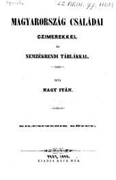 Magyarország családai czimerekkel es nemzekrendi tablakkal: 5. kötet