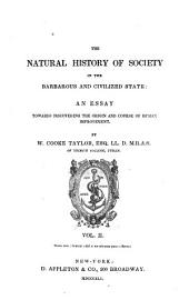 The natural history of society in the barbarous and civilized state: an essay towards discovering the origin and course of human improvement, Volume 2