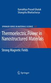 Thermoelectric Power in Nanostructured Materials: Strong Magnetic Fields