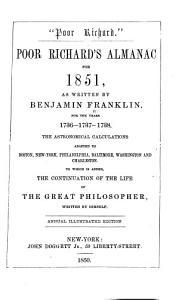 Poor Richard's Almanac for 1850-52