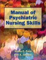 Manual of Psychiatric Nursing Skills PDF